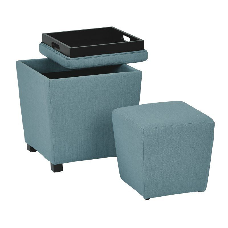Strange Osp Designs Metro Storage Ottoman With Tray Set Of 2 Pabps2019 Chair Design Images Pabps2019Com