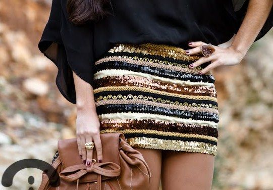 paillette skirt