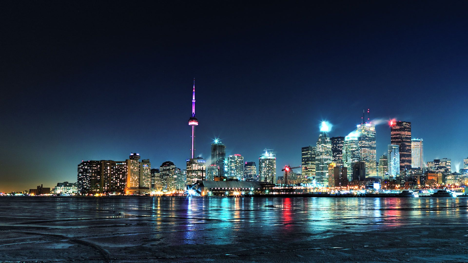 Wallpaper Tags Toronto Night City City Lights Share This Wallpaper Canada City City Lights At Night Toronto Pictures