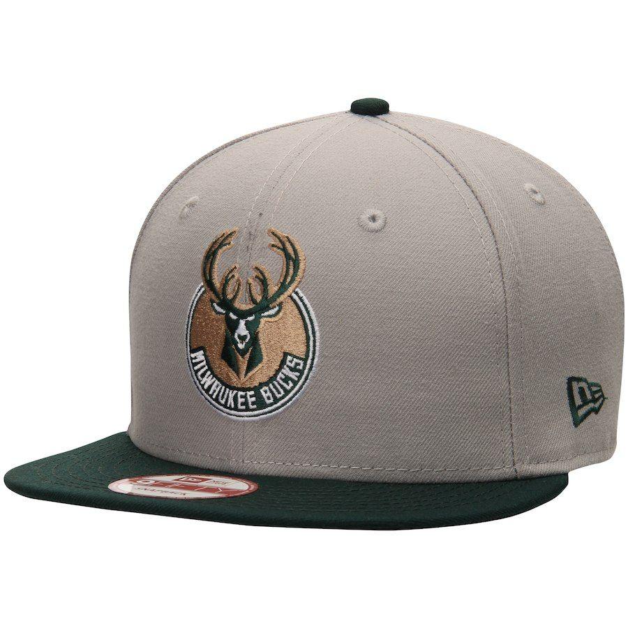 6ee01fa51e64a6 Men's Milwaukee Bucks New Era Gray Team 9FIFTY Snapback Adjustable Hat,  $29.99