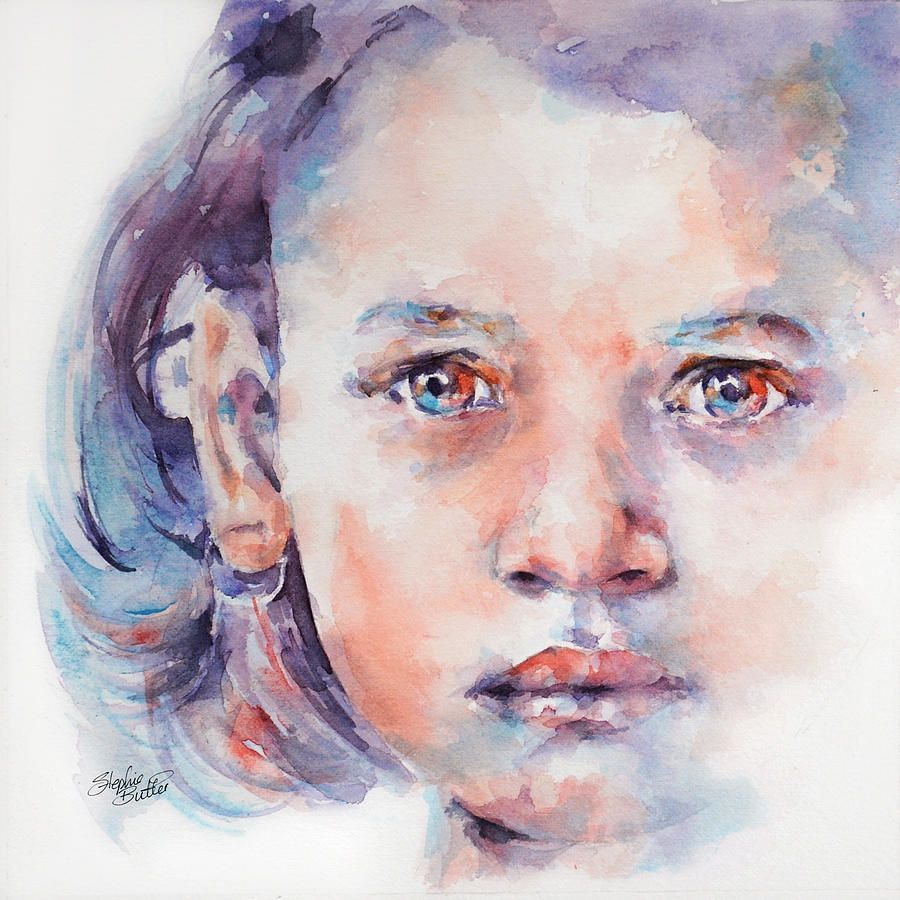 Almost In 2020 Watercolor Portrait Painting Watercolor