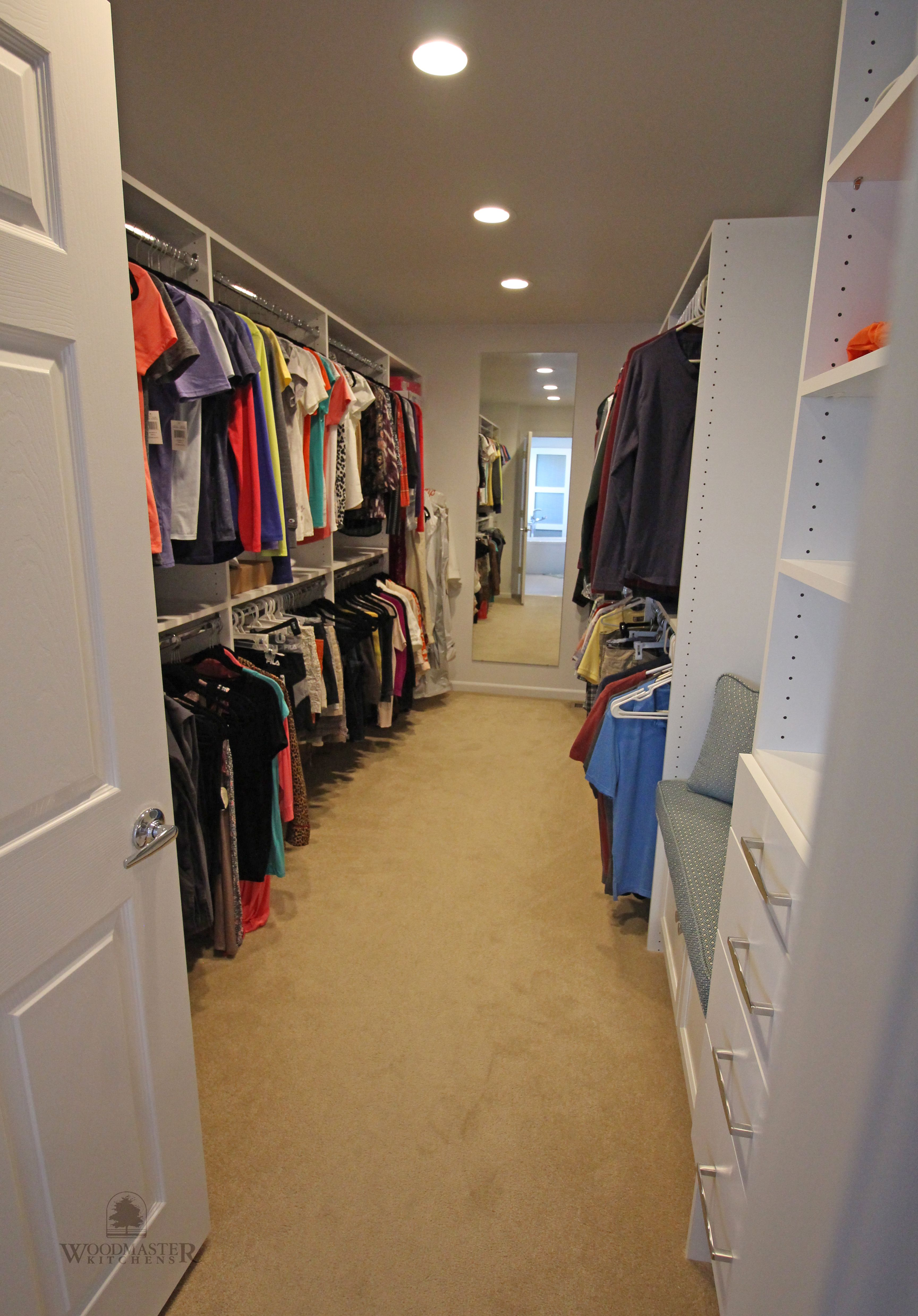 This Walk In Closet And Dressing Room Positioned Off Of The