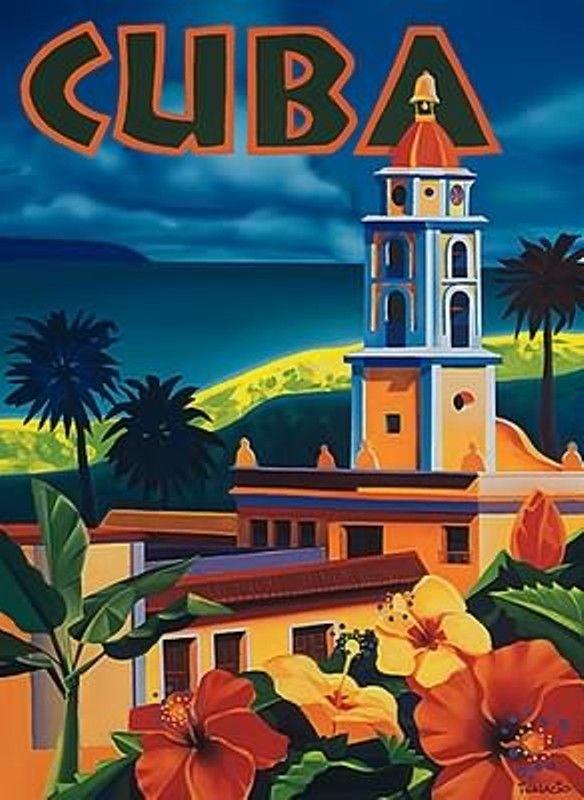 Cuba Vintage Retro Travel Poster Travel Posters Vintage Postcards Travel