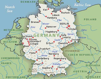 Germany Map Google Map Of Germany  Le Tour D39Europe
