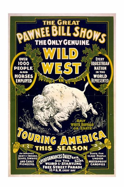 Cool Wild West Show poster, could do an invite along these lines