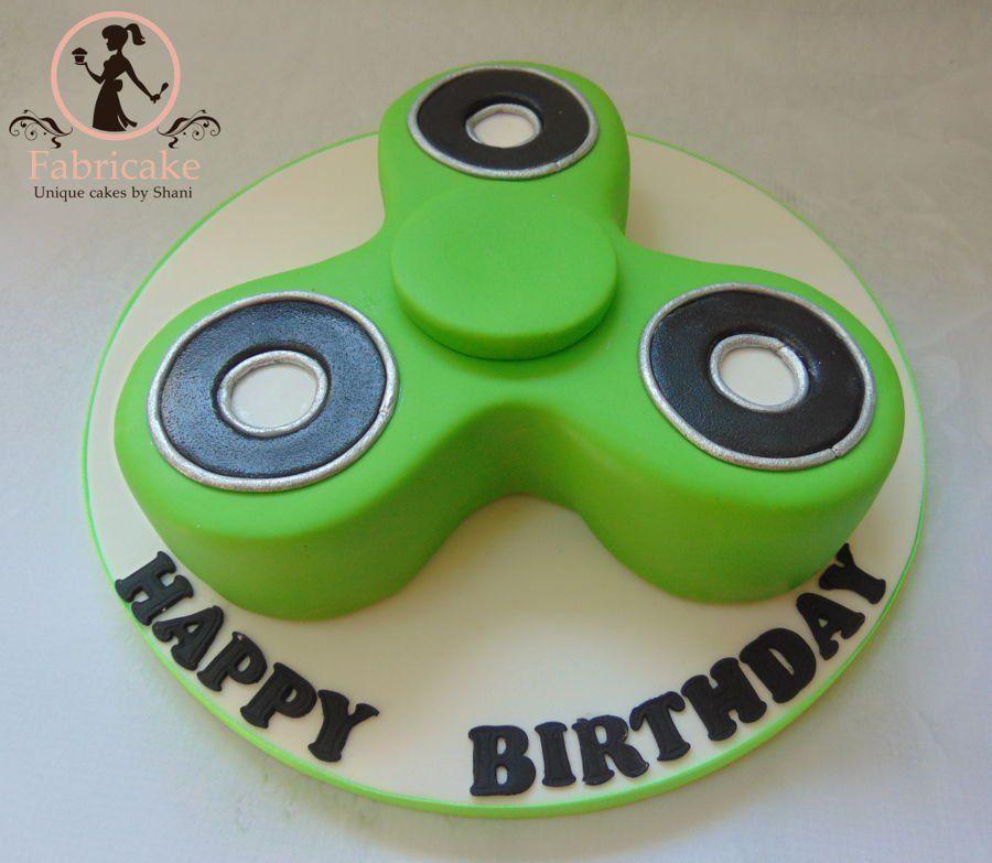 Fidget Spinner Cake on Cake Central | Gauge's 6th bday | Fidget ...