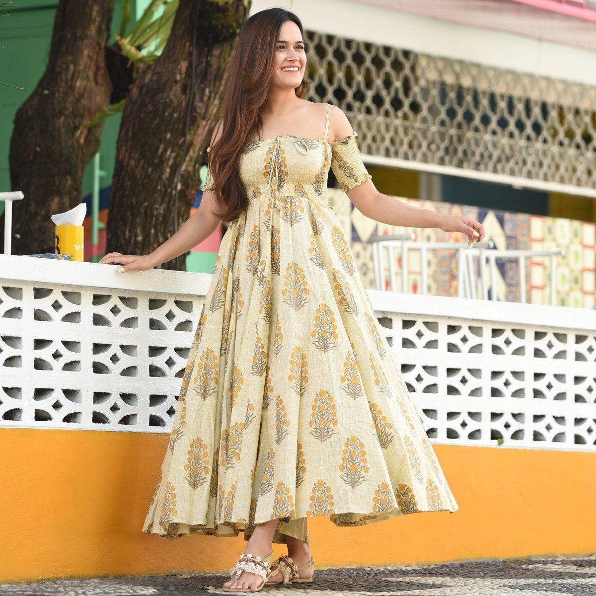 Sun Tan Cotton Dress Green Cotton Dress Cotton Dress Summer Designer Party Wear Dresses [ 1200 x 1200 Pixel ]