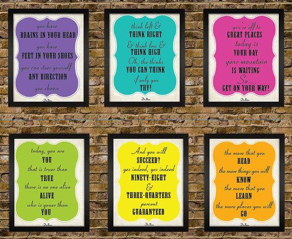 6 5x7 Dr.Seuss Seuss Motivational Quote Poster by BigMowthPrints