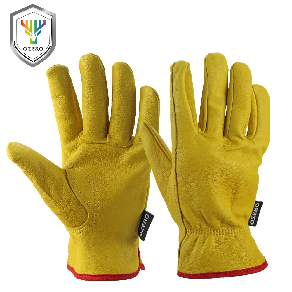 Leather work gloves for welding - New Men S Work Gloves Goat Leather Security Protection Safety Cutting Working Repairman Kevlar Racing Gloves For