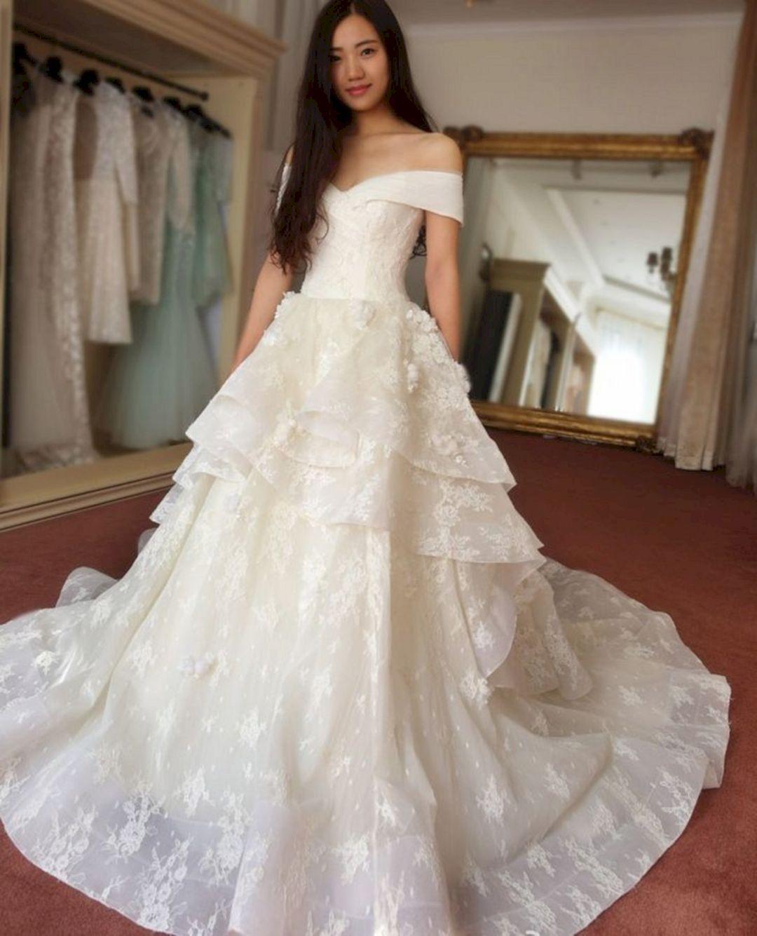 20+ Gorgeous Korean Wedding Dress For Wedding Inspiration   Korean ...
