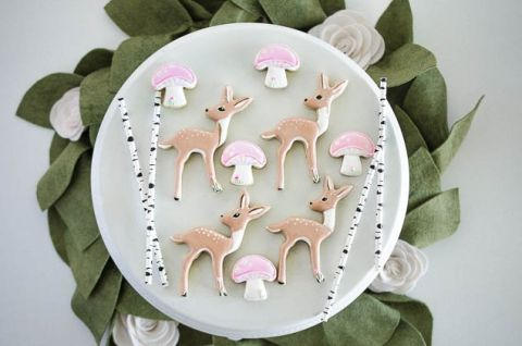 Woodland Pixie Party | Woodland cookies