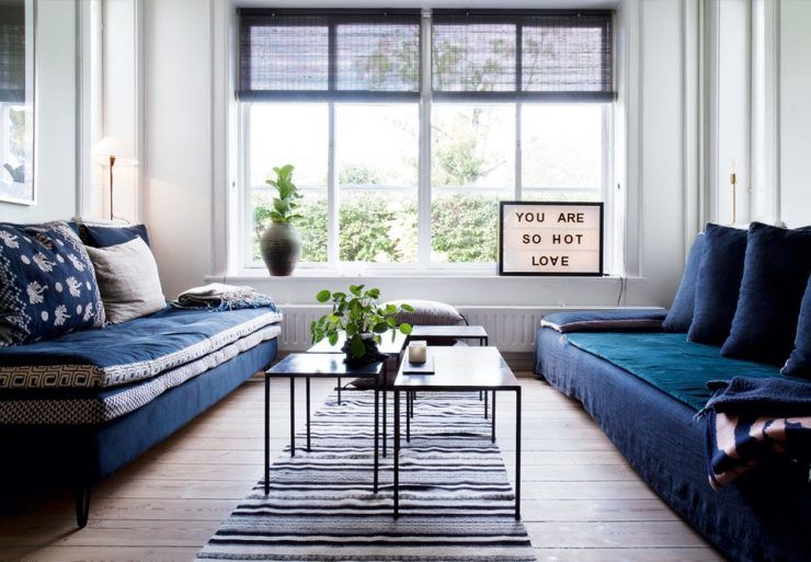 On craque pour le bleu marine ou navy blue en déco | Living room ...
