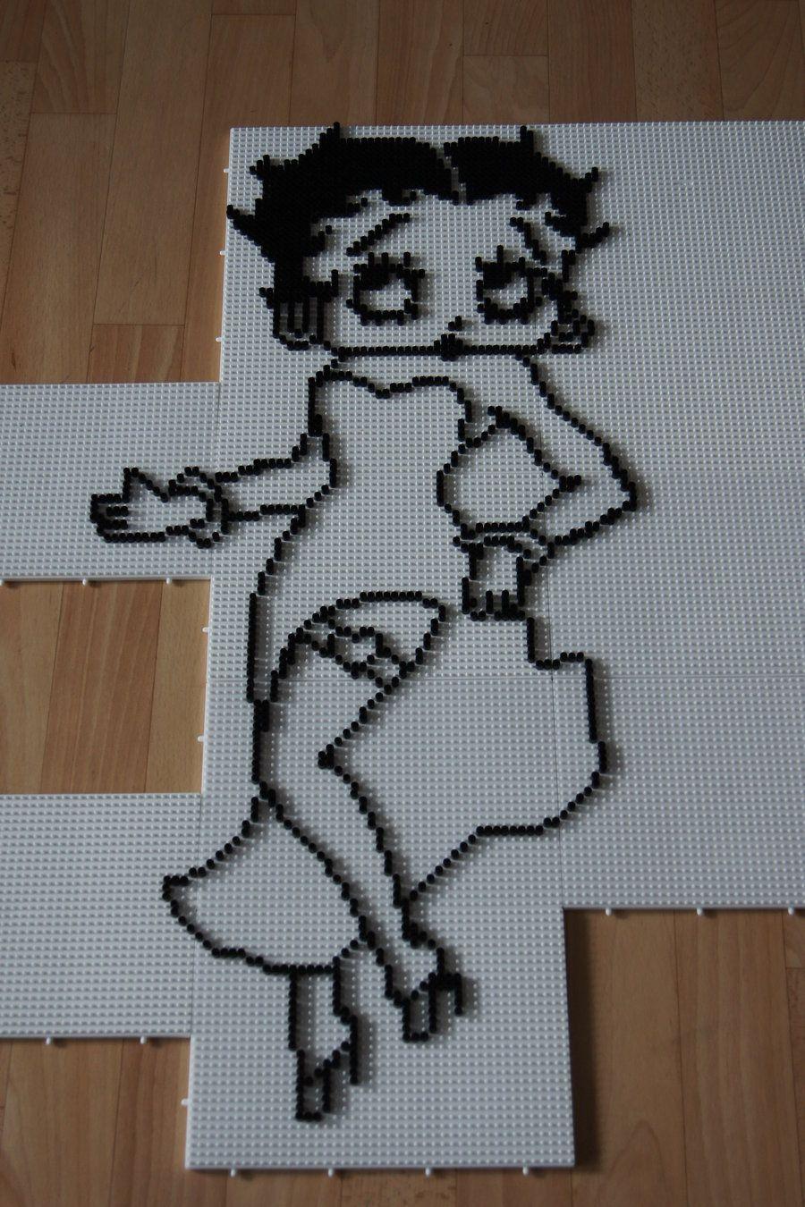 Betty Boop Project perler beads by Ckchriss on deviantart