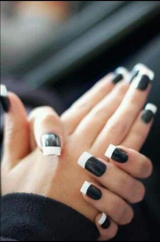 Pin By Jessica Cofield On Iaꭵℓ ғℓaꭵʀ Black White Nails Fashion Nails Cute Nails