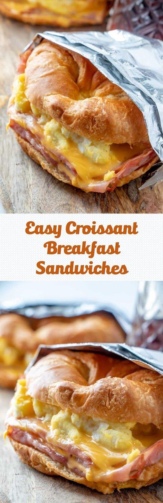 Easy Croissant Breakfast Sandwiches #frühstückundbrunch