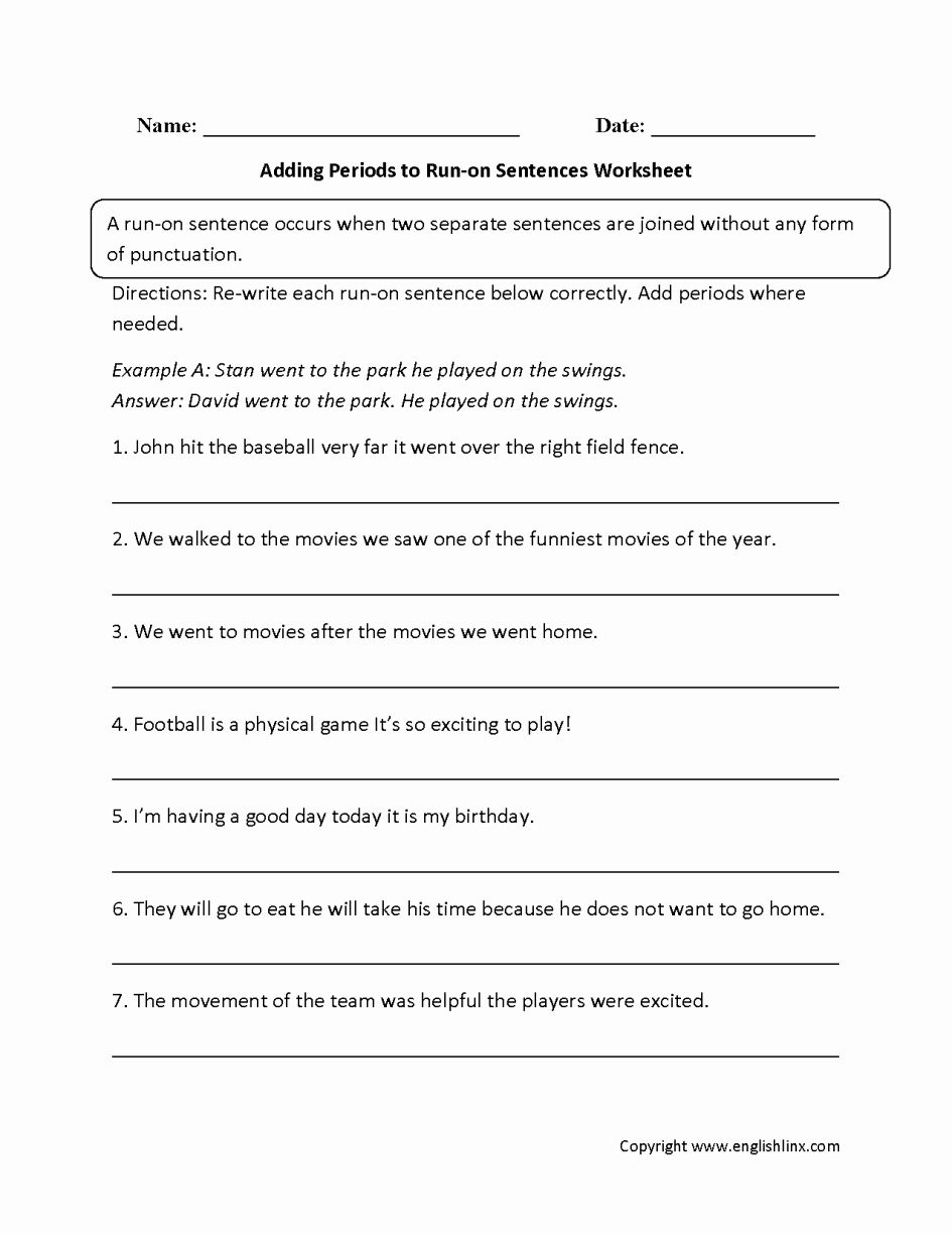 Run On Sentence Worksheet Inspirational Grade 9 Locally Developed English Mr Read S Courses In 2020 Run On Sentences Sentences Grammar Worksheets
