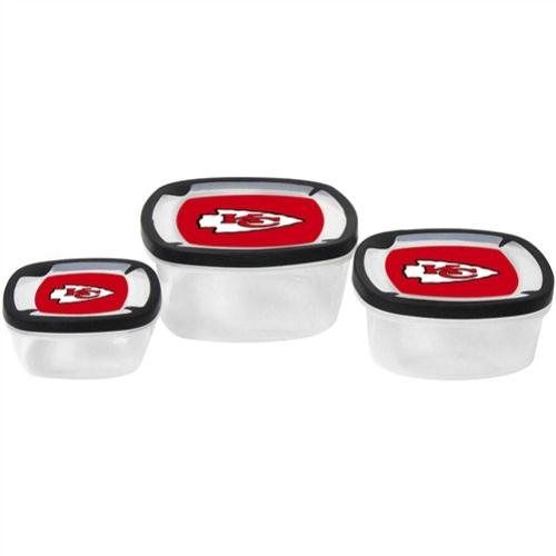 Boelter Kansas City Chiefs Square Storage Containers
