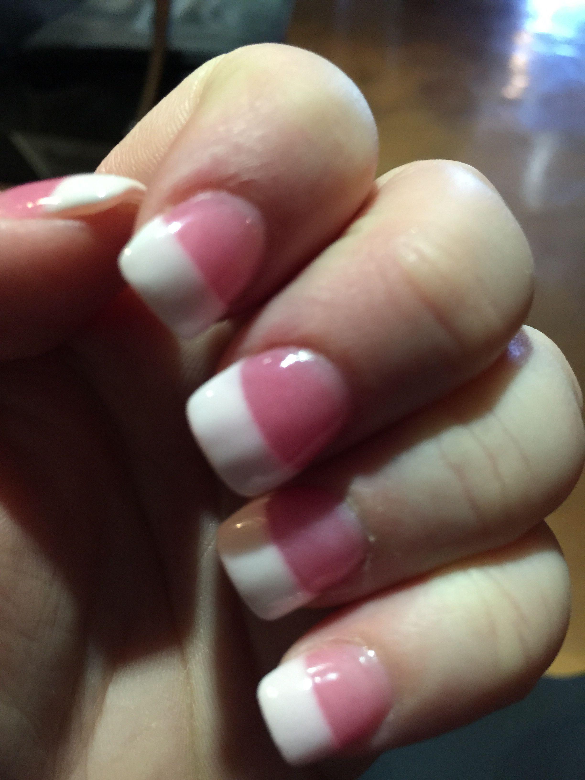Sns Nails Pink And White Nails Nail Colors Pink Nails