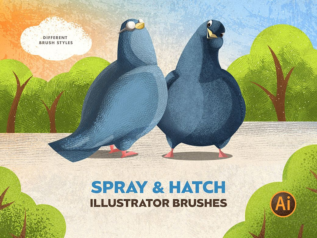 Download Spray & Hatch Free Illustrator Brushes in 2020
