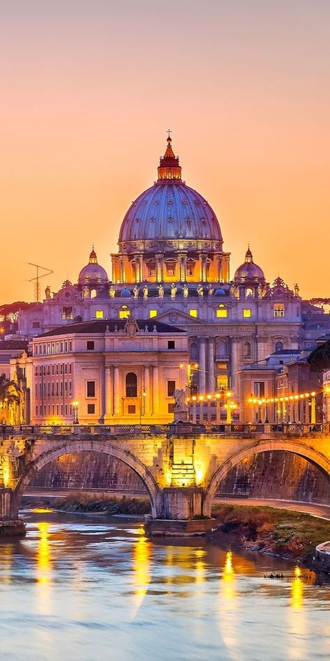 In magical Rome, Italy.