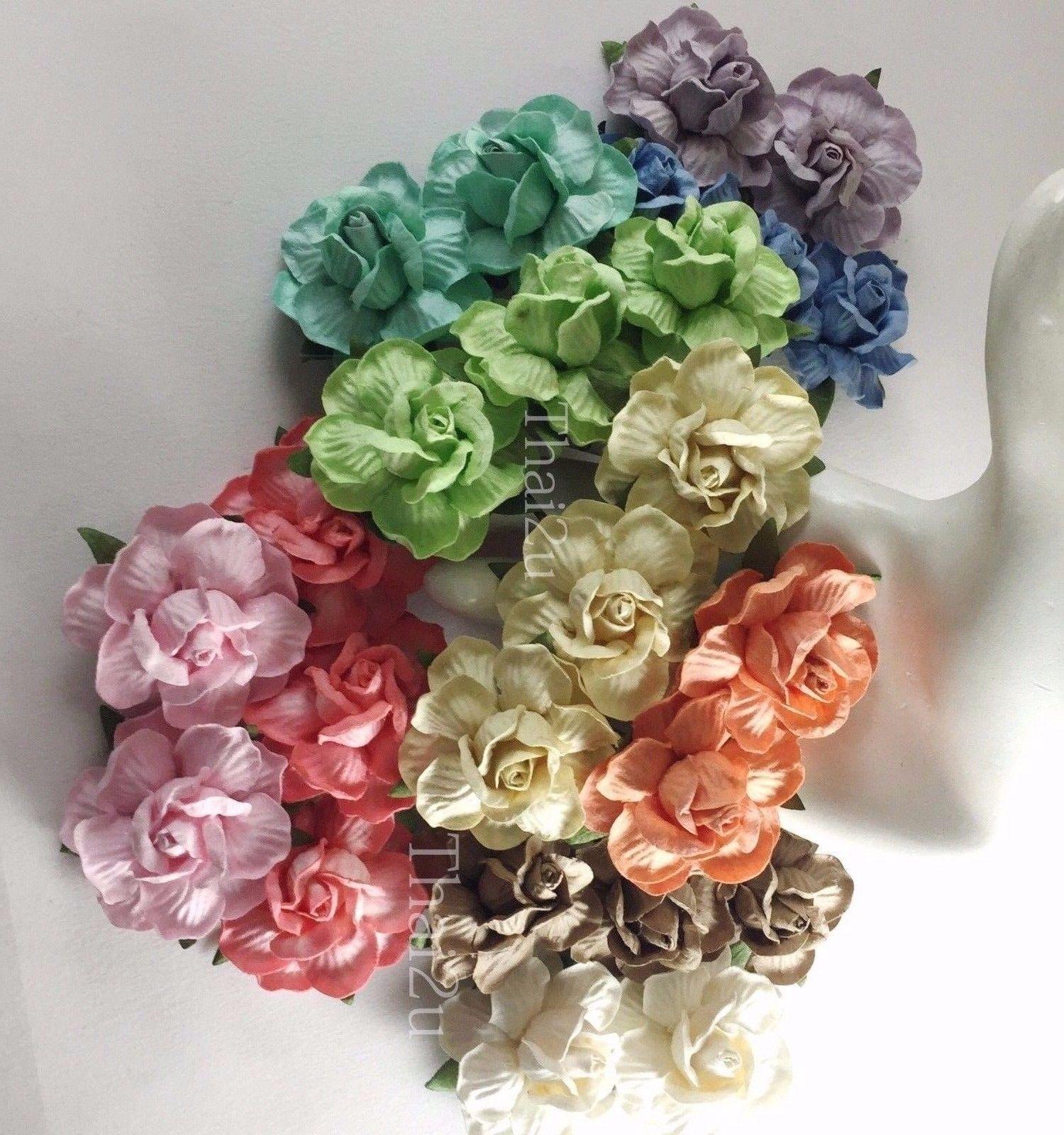 Diy halloween wedding decorations   Large Paper Flower Rose DIY Wedding Decor bouquet Scrapbook