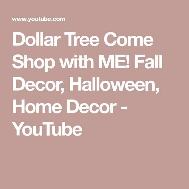 Dollar Tree Come Shop with ME! Fall Decor, Halloween, Home ...