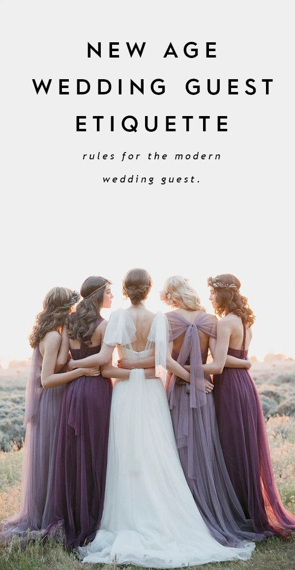 Rules For New Age Wedding Guest Etiquette