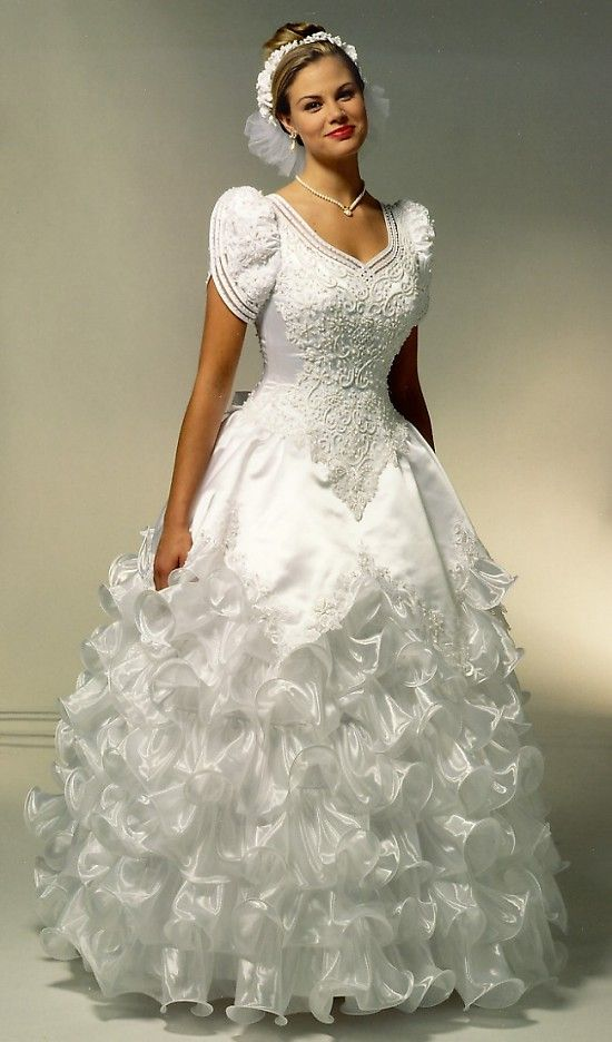 Vintage Ruffle Wedding Dress
