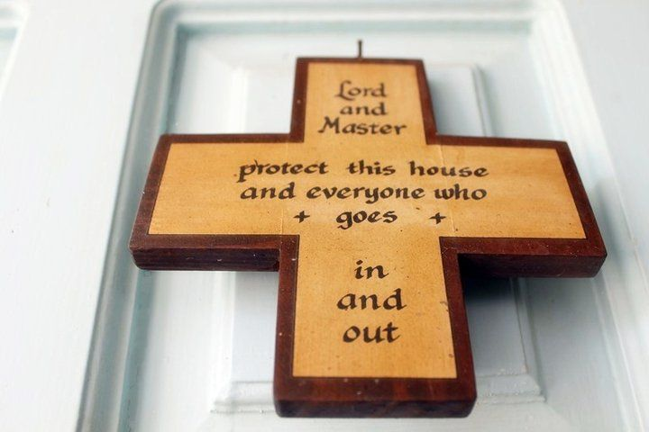 Quote about God found in our entrance door