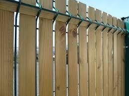 Pose de kit occultation Bois pour clôtures | Extérieur ...
