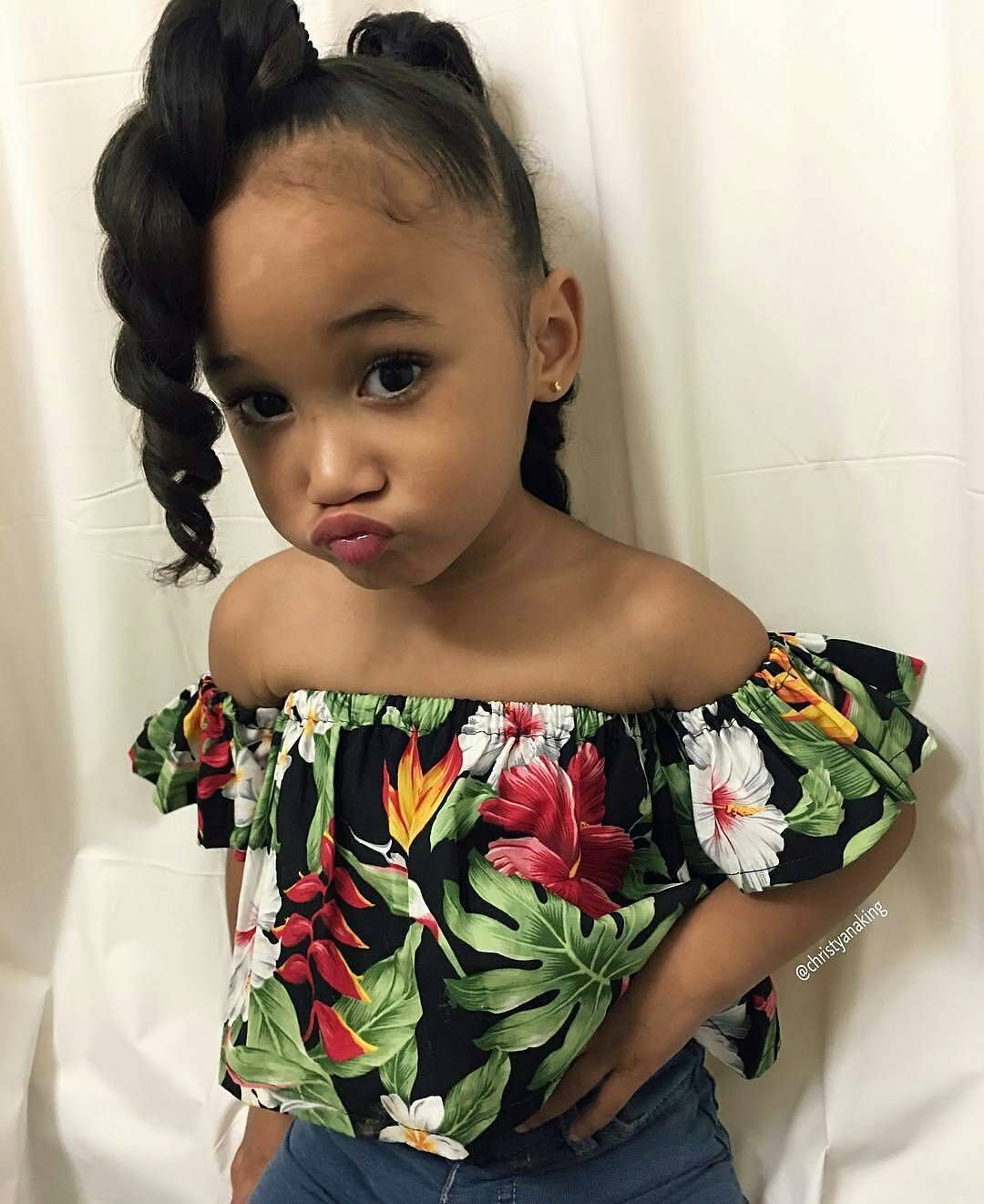 Pin by Aaliyah   on My Girls  Mixed kids hairstyles