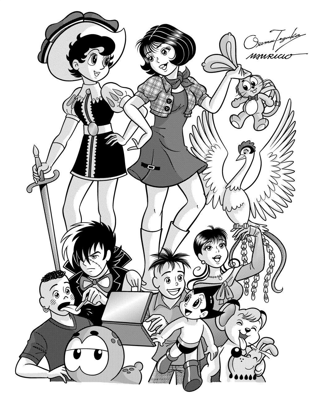 Tmj E Personagens De Ozamu Tezuka Imagem 3 Com Imagens Monica