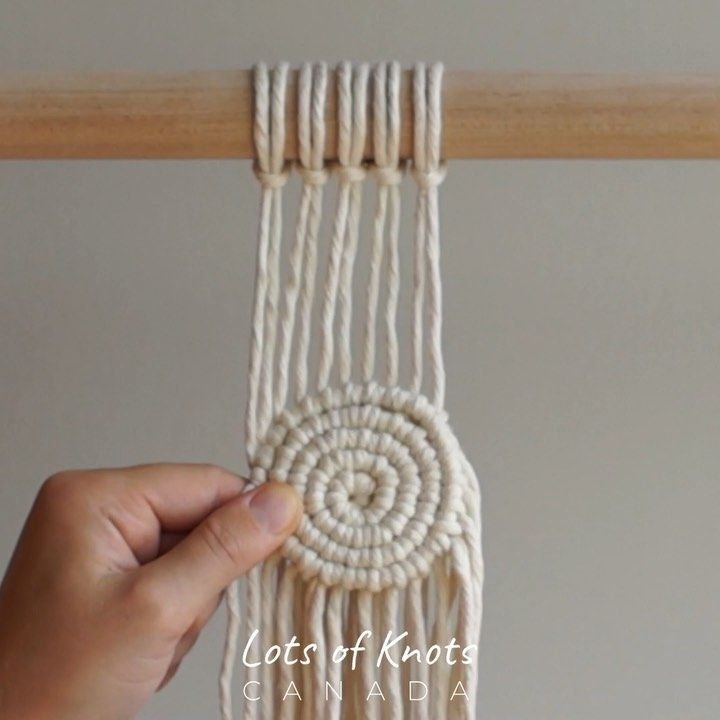 "Chantel Conlon on Instagram: ""�How to attach a spiral to your work! A little while ago I posted a tutorial on how to create a macrame spiral. I received a few questions…"""