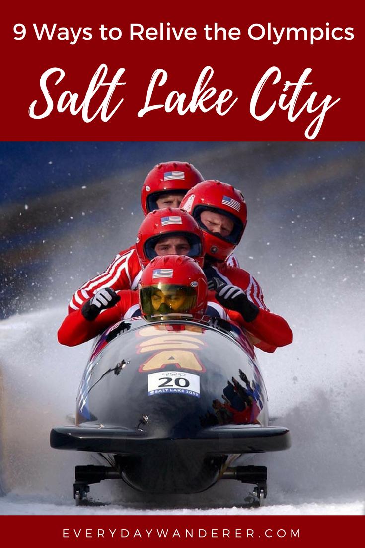 9 ways to relive the Winter Olympics in Salt Lake City #utah #saltlakecity #olympics #visitSLC #visitutah
