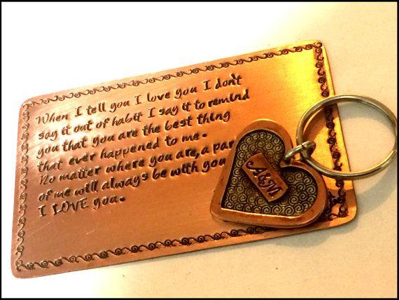 Sale Copper Anniversary Gift Anniversary Heart Keychain 7th