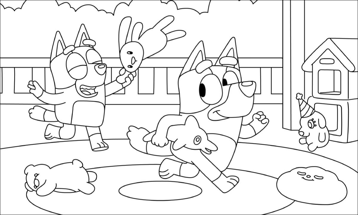 Pin By Lia Godfriend On Bluey Abc For Kids Cool Coloring Pages Coloring Pages For Kids