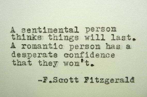 F. SCOTT FITZGERALD Quote Typed on Typewriter