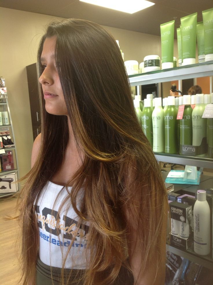 Balayage On Very Long Hair By Doris Tintura Salon