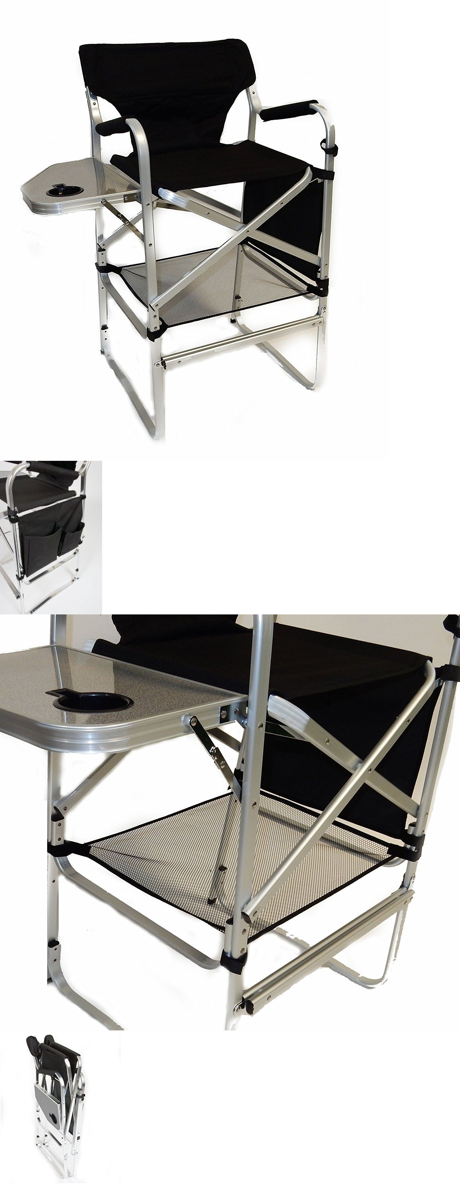 camping furniture world outdoor products tall directors chair side table foot
