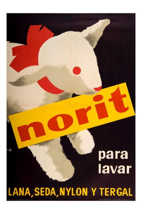 Cartell Norit. 1960. Josep Sala Llorens (1928-2010)