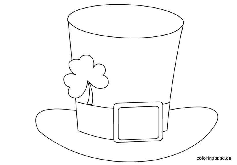St Patrick S Day Hat St Patricks Day Hat Coloring Pages St