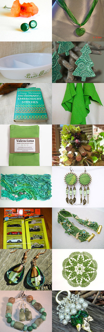 Green with envy SPS treasury 128 by vdownham on Etsy--Pinned with TreasuryPin.com