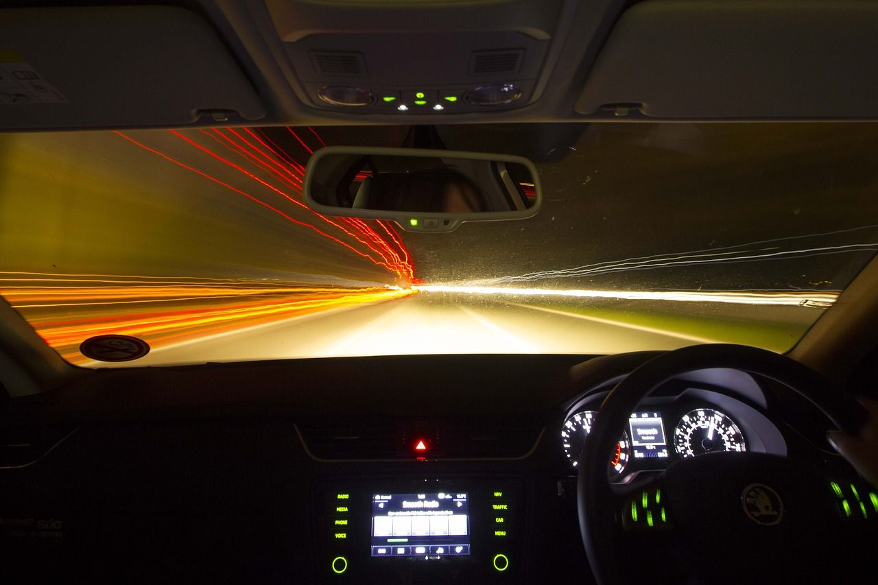 Travel, Drive Night Car Vehicle Road Speed Traffic travel