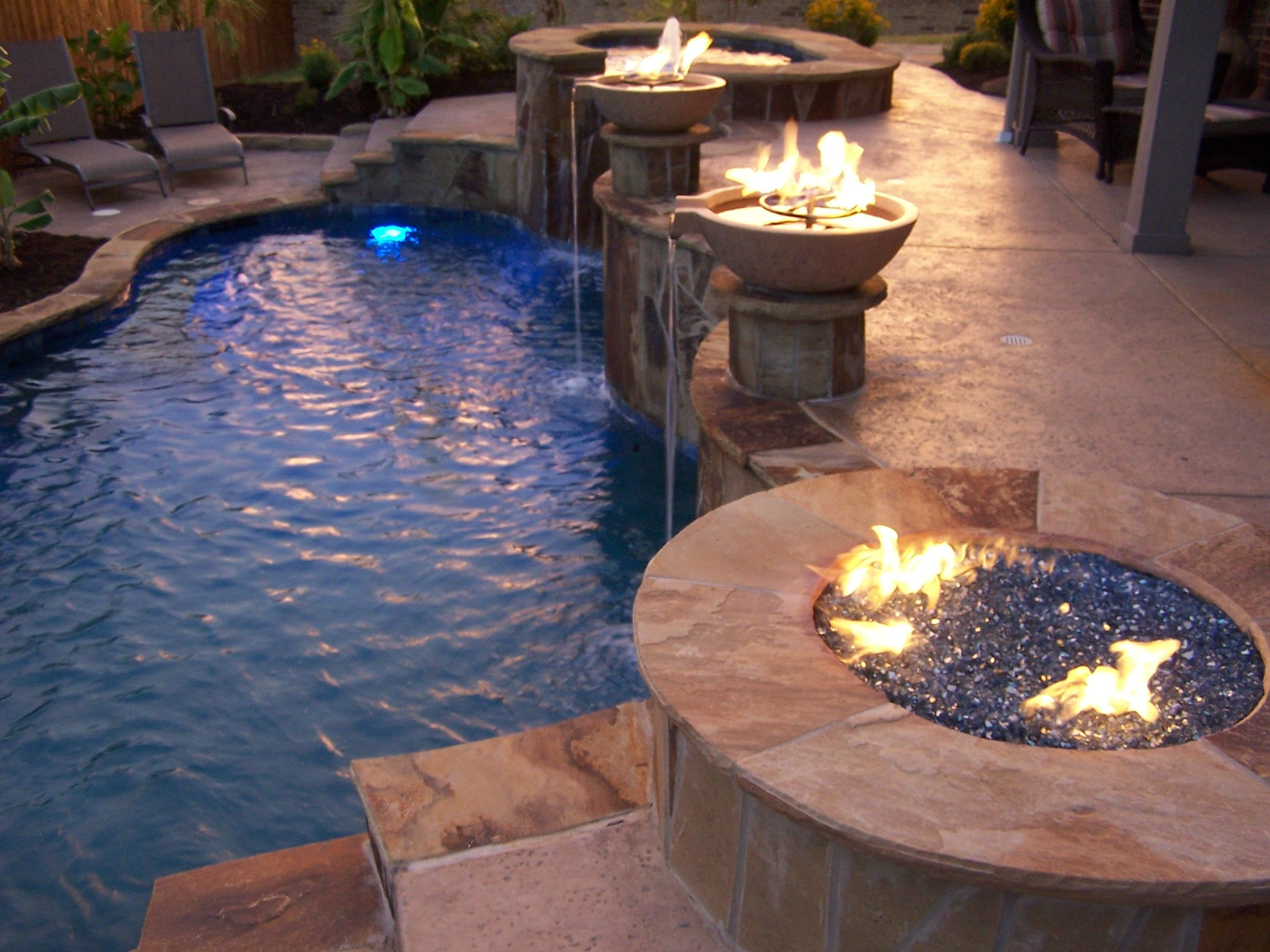 118 best Pool Wok Pot Fire Water Scupper images on Pinterest | Wok ...