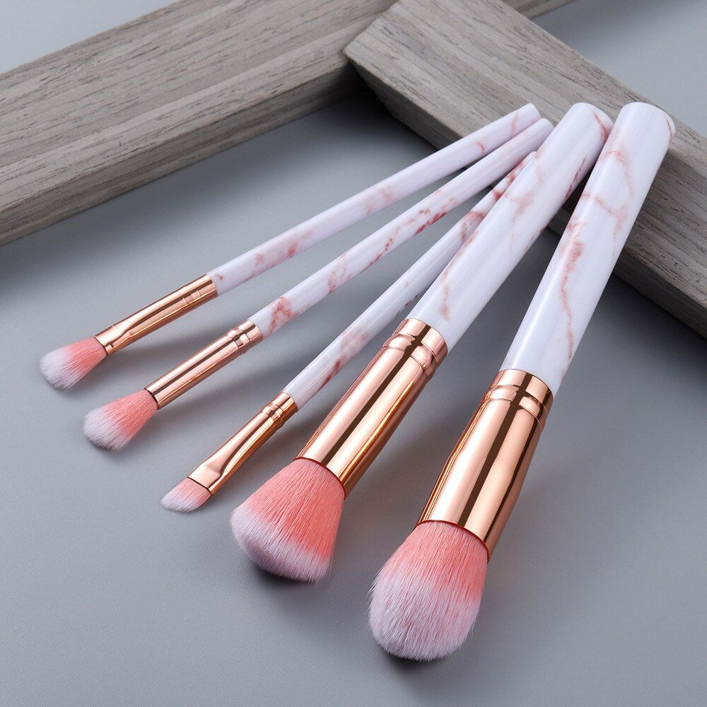 FLD5/15Teile Make-Up Pinsel Werkzeug Set Kosmetische Pulver Lidschatten Foundation Blush Blending Schönheit Make-Up Pinsel Maquiagem – 5pcs-pink