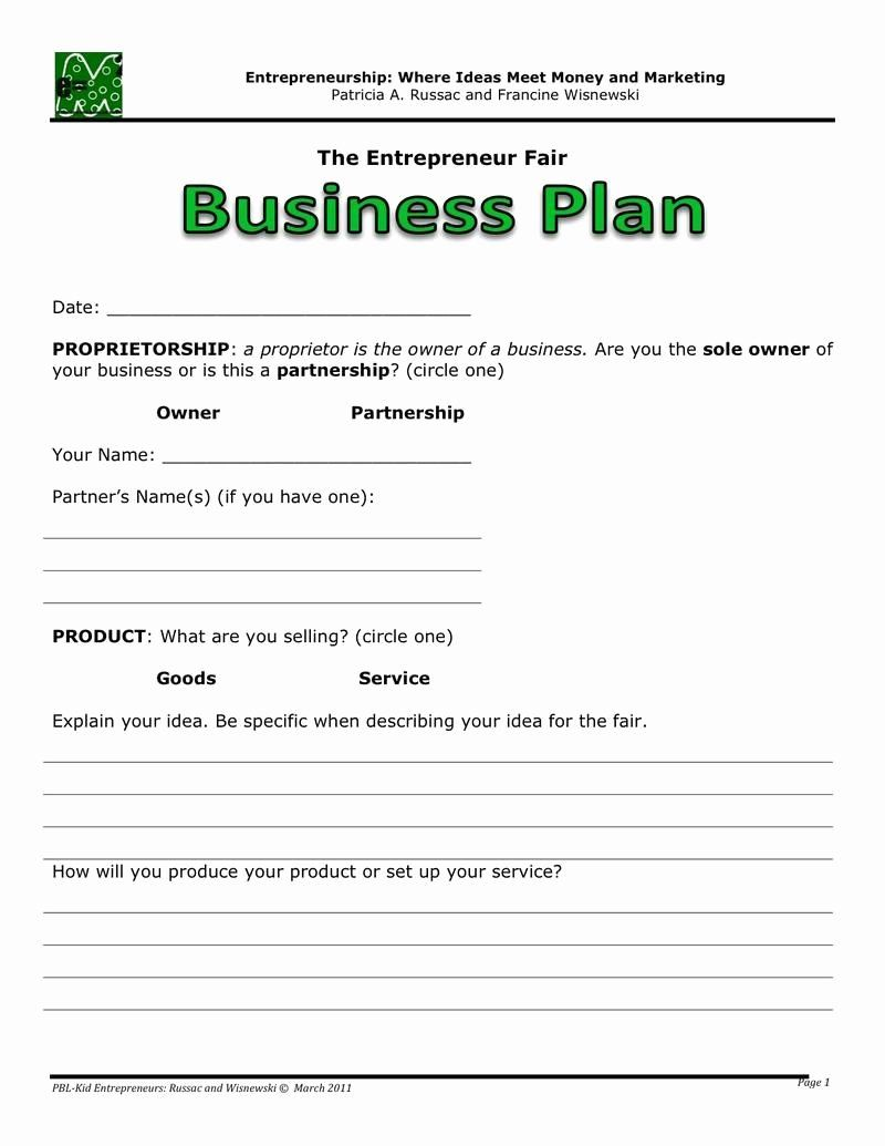 30 Free Printable Business Plan Template in 2020 One
