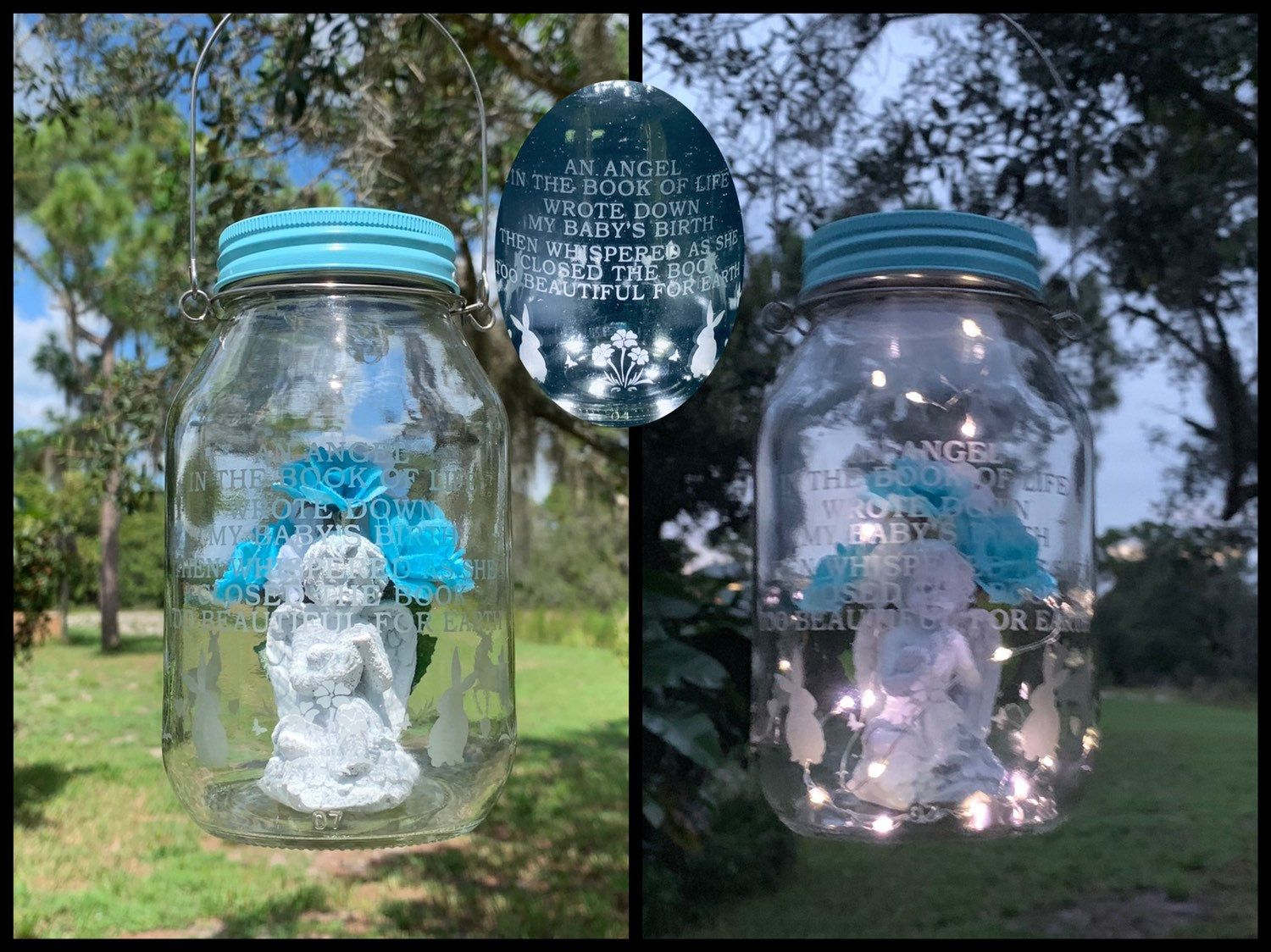 Grave Decoration For Loss Of Baby Boy Cemetery Decoration Etsy Gravesite Decorations Cemetery Decorations Grave Decorations