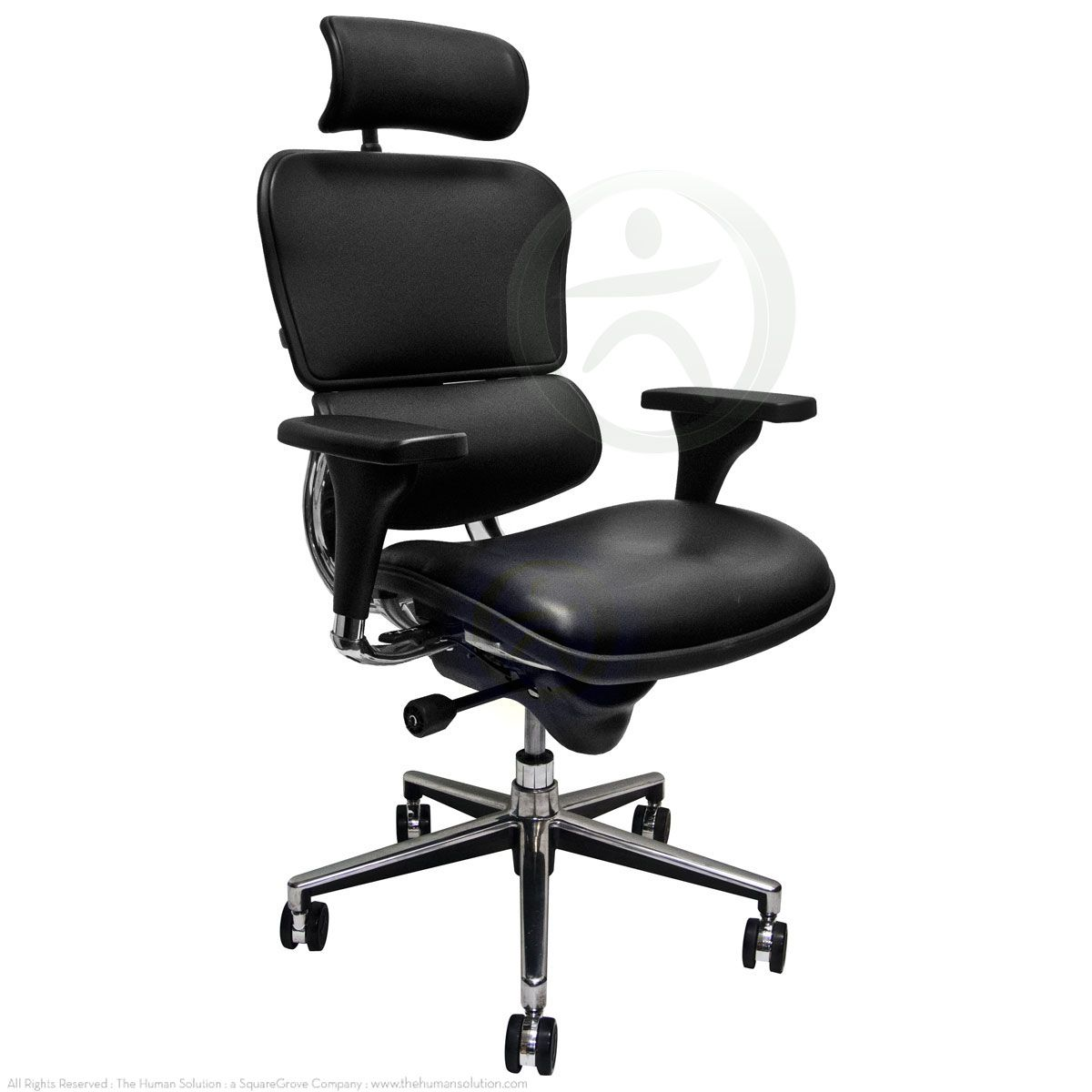 The Le9erg Raynor Ergohuman Chair With A High Back And