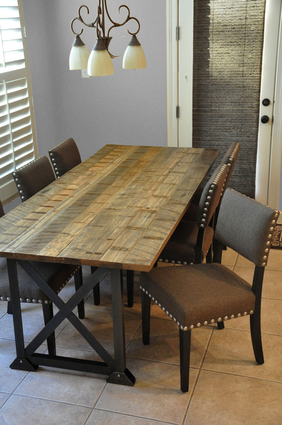 The spann dining table reclaimed wood dining table for Mobilia kitchen table