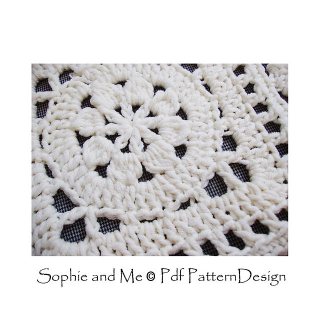 First Flower of the Year Square pattern by Sophie and Me-Ingunn ...